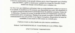 Condolences from Richard Yoel WERTENSCHLAG
